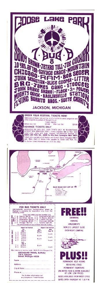 1014: The Goose Lake Music Festival original flyer