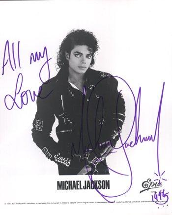 1016: Michael Jackson signed publicity photograph