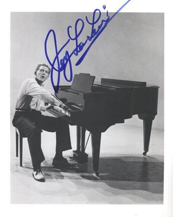 1017: Jerry Lee Lewis signed publicity photograph