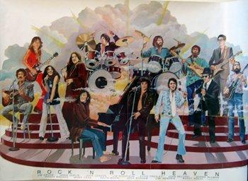 1163: Jimi Hendrix Rock 'n' Roll Heaven portrait poster