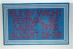 1206 Jimi Hendrix Isle of Wight Festival poster 1970