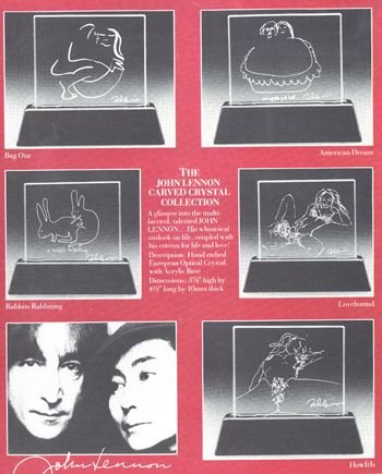 1001A: Very rare John Lennon Carved Crystal Collection