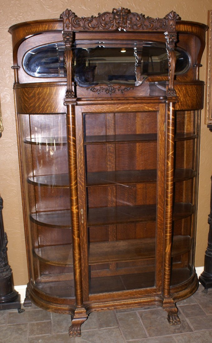 R.J. Horner Open Mouth Griffin Oak China Cabinet