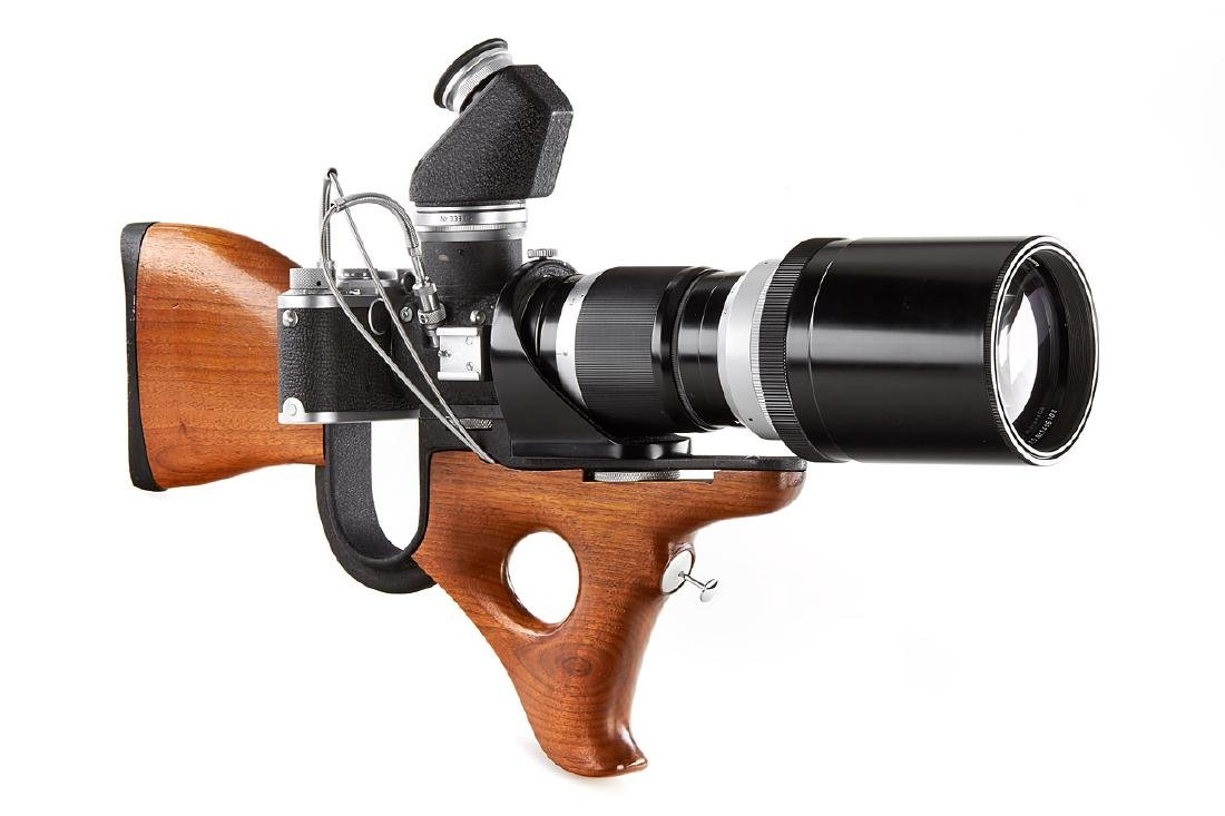 Leica IIf SABRE Gun Stock + 4/400 Telyt *, 1956, no.