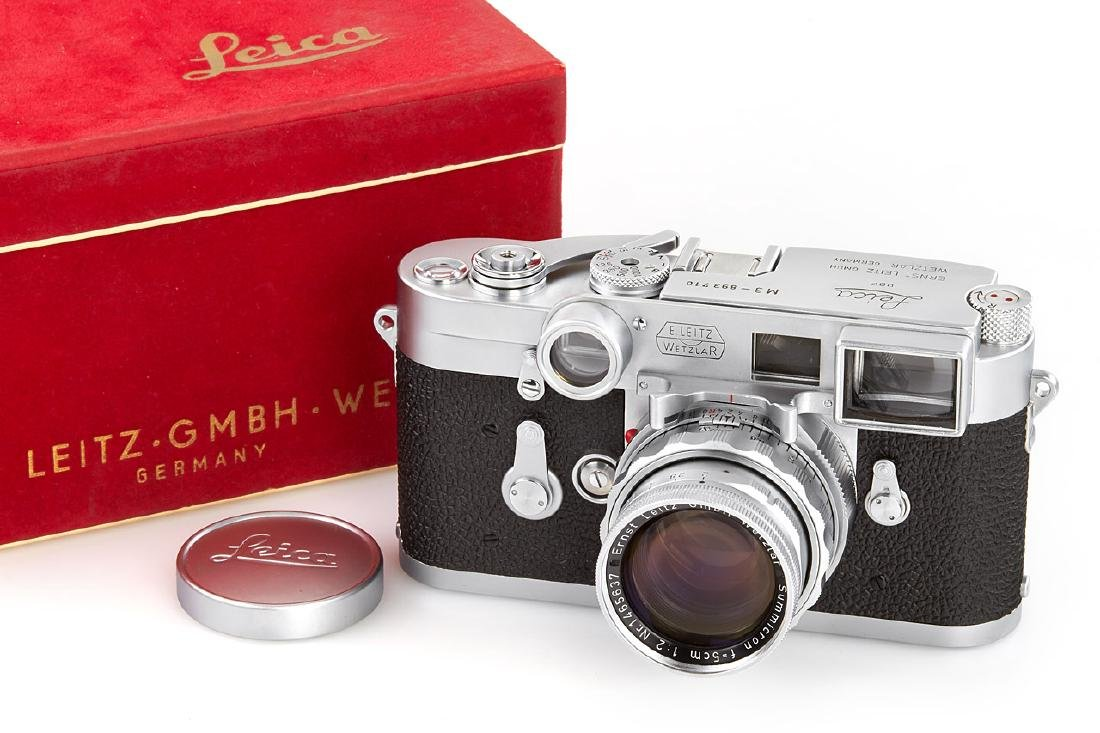 Leica M3 chrome + Summicron 2/5cm *, 1957, no.