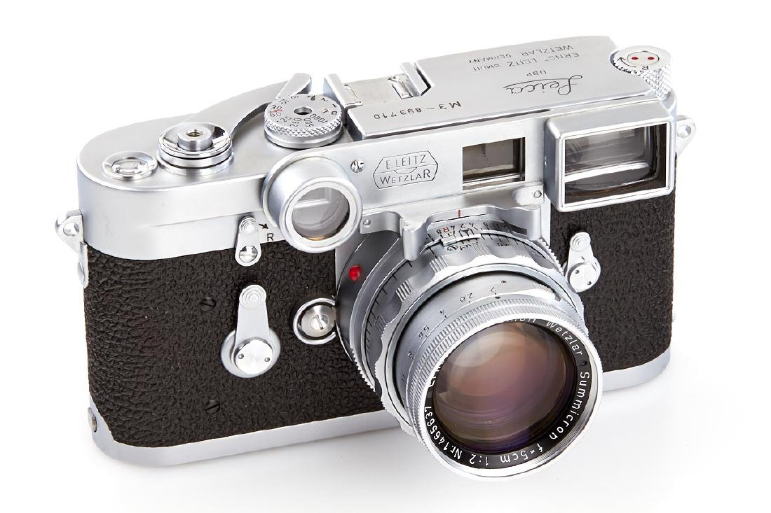 Leica M3 chrome + Summicron 2/5cm *, 1957, no. - 2