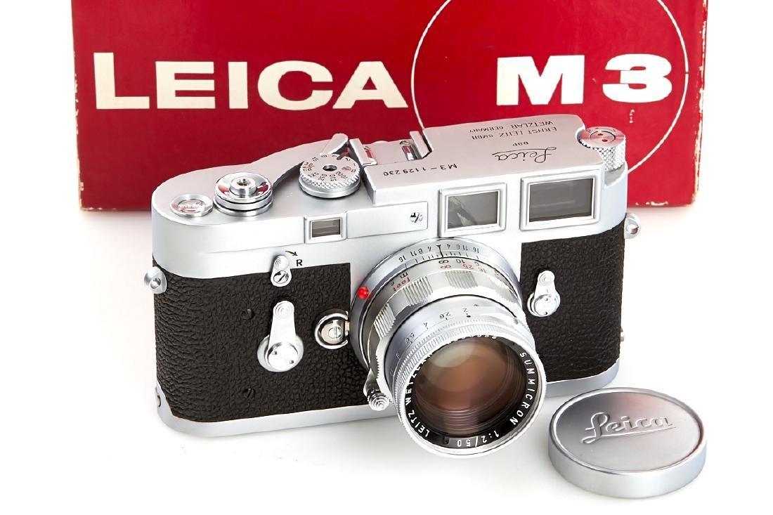 Leica M3 chrome + Summicron 2/50mm *, 1965, no.