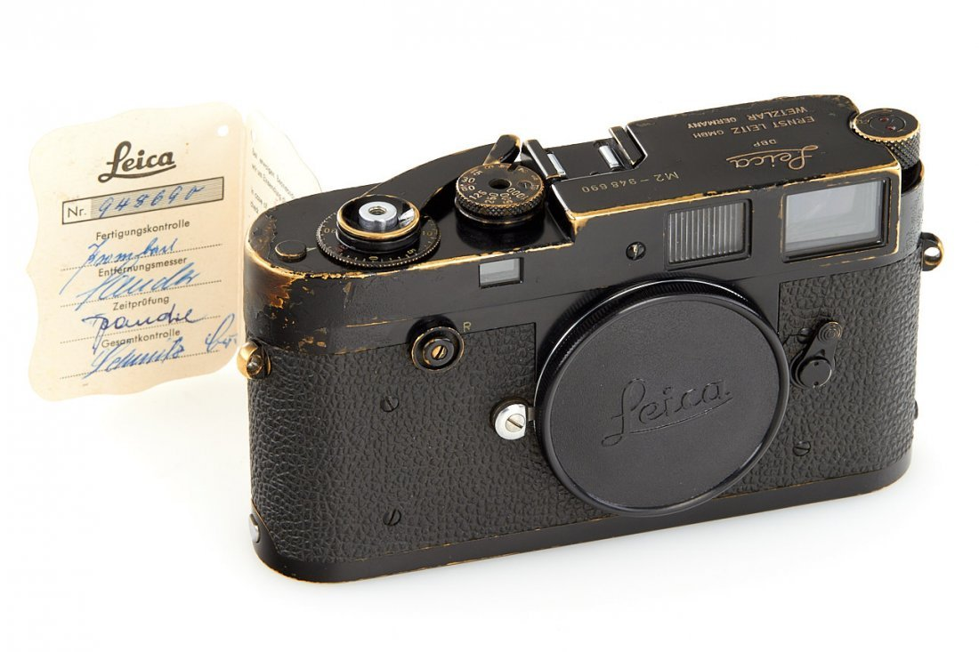 Leica M2 black paint Button Rewind, 1958, no. 948690