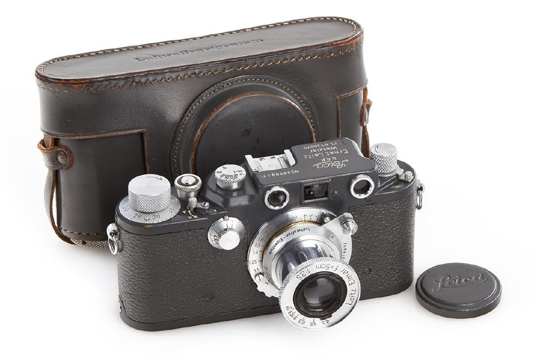 Leica IIIc K grey + Elmar 3,5/5cm 'Luftwaffen-Eigentum'