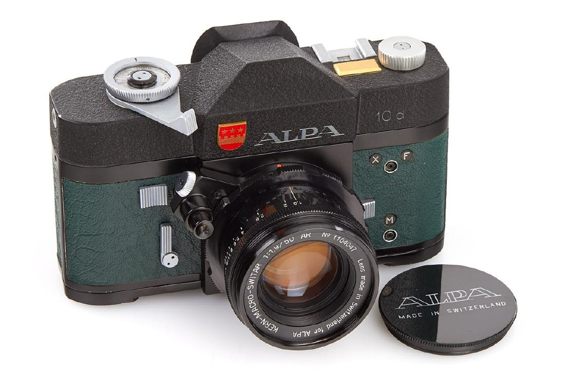 Alpa 10d black green leather + Macro-Switar 1,9/50mm *,