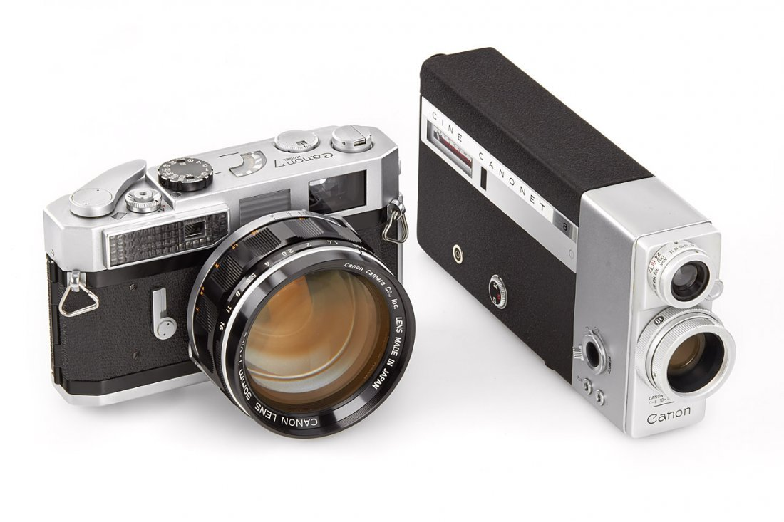 Canon 7 with 0.95/50 + Cine Canonet 8 'Georges
