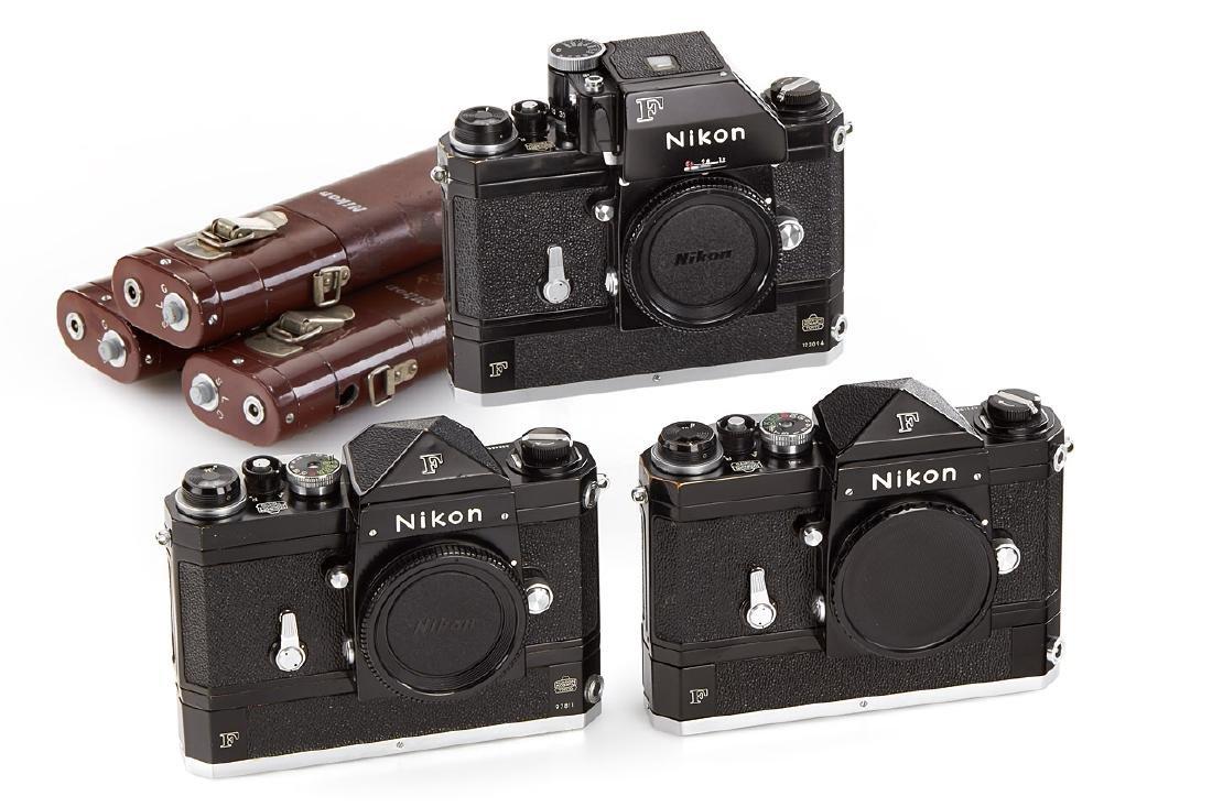Nikon F black + F36 Motor Drive (various), 1960-65