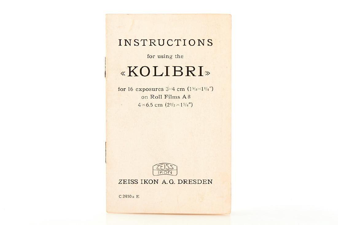 Zeiss Ikon Night Kolibri, 1932, no. R99549 - 7