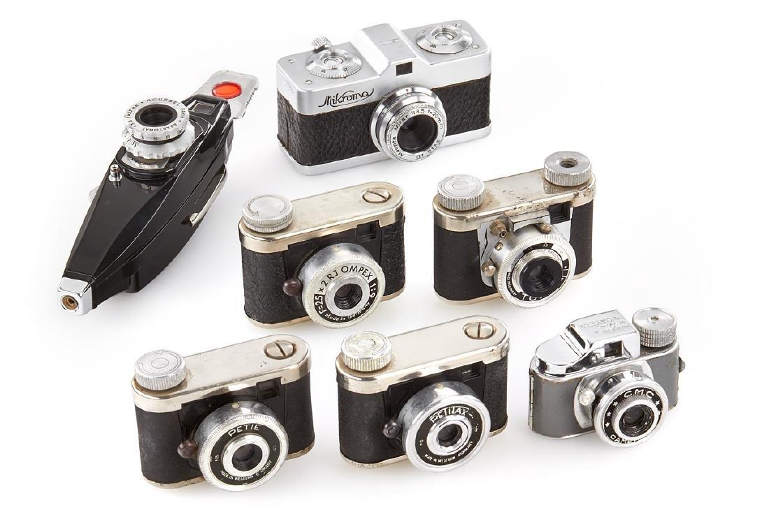 Miniature cameras (various), 1950's