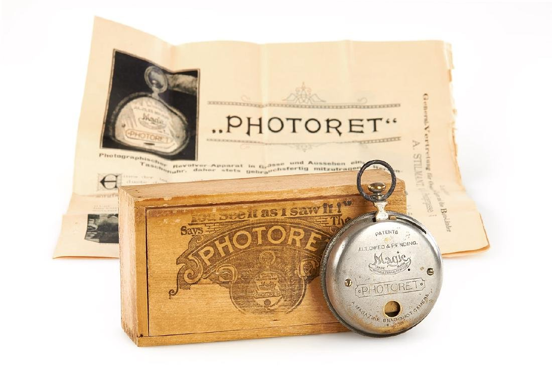 Magic Introduction Co. Photoret Watch Camera, c.1894