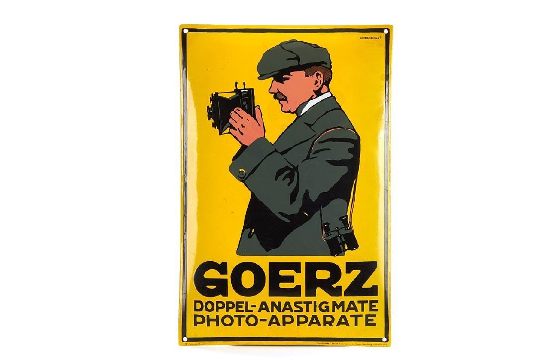 Goerz Enamel Sign, c.1900
