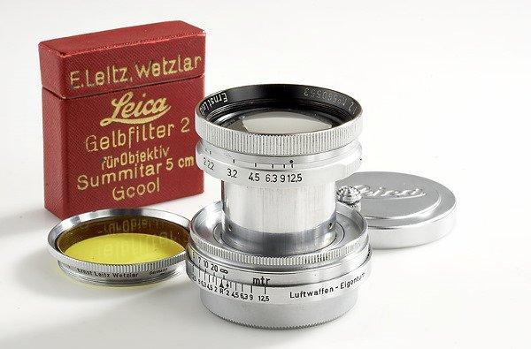 91: Leica: Summitar  2/5cm  Luftwaffen-Eigentum