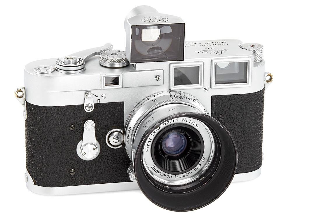 Leica M3 chrome Double Stroke with Summaron 3.5/3.5 cm
