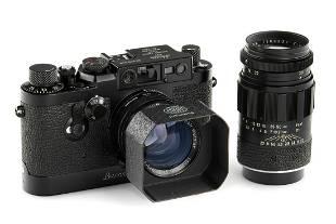 Leica IIIg black paint outfit+Elmarit 2.8/90mm * SN: