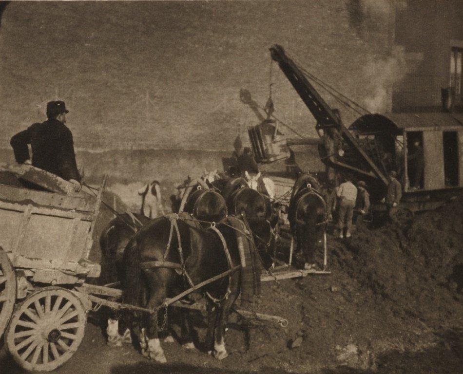 ALFRED STIEGLITZ (1864–1946) Excavating, New York 1911