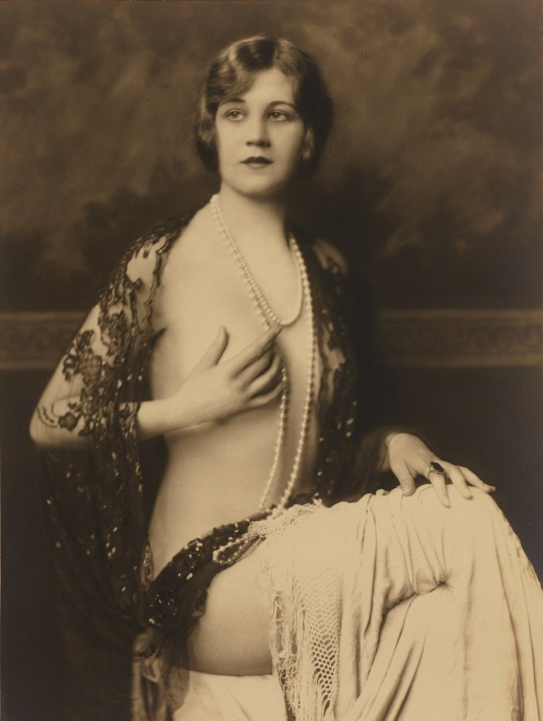 ALFRED CHENEY JOHNSTON (1884–1971) Woman with Pearl Nec
