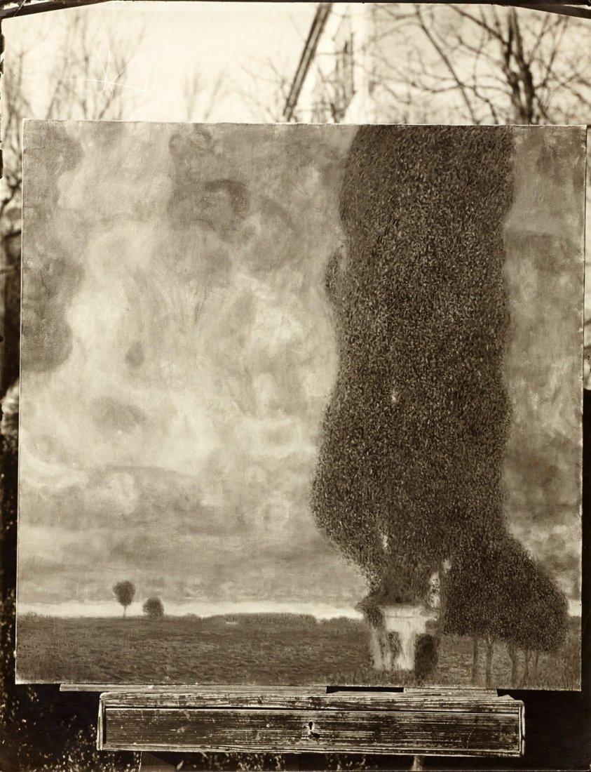 MORIZ NÄHR (1859–1945) 'Die große Pappel II (Aufsteigen