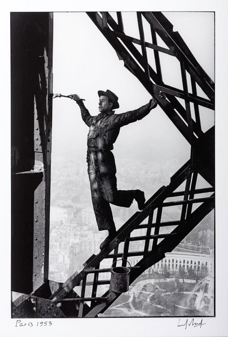 MARC RIBOUD (* 1923) 'Le Peintre de la Tour Eiffel', Pa