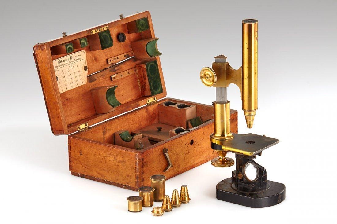 Carl Kellner (Bethle & Rexroth) Large Microscope,