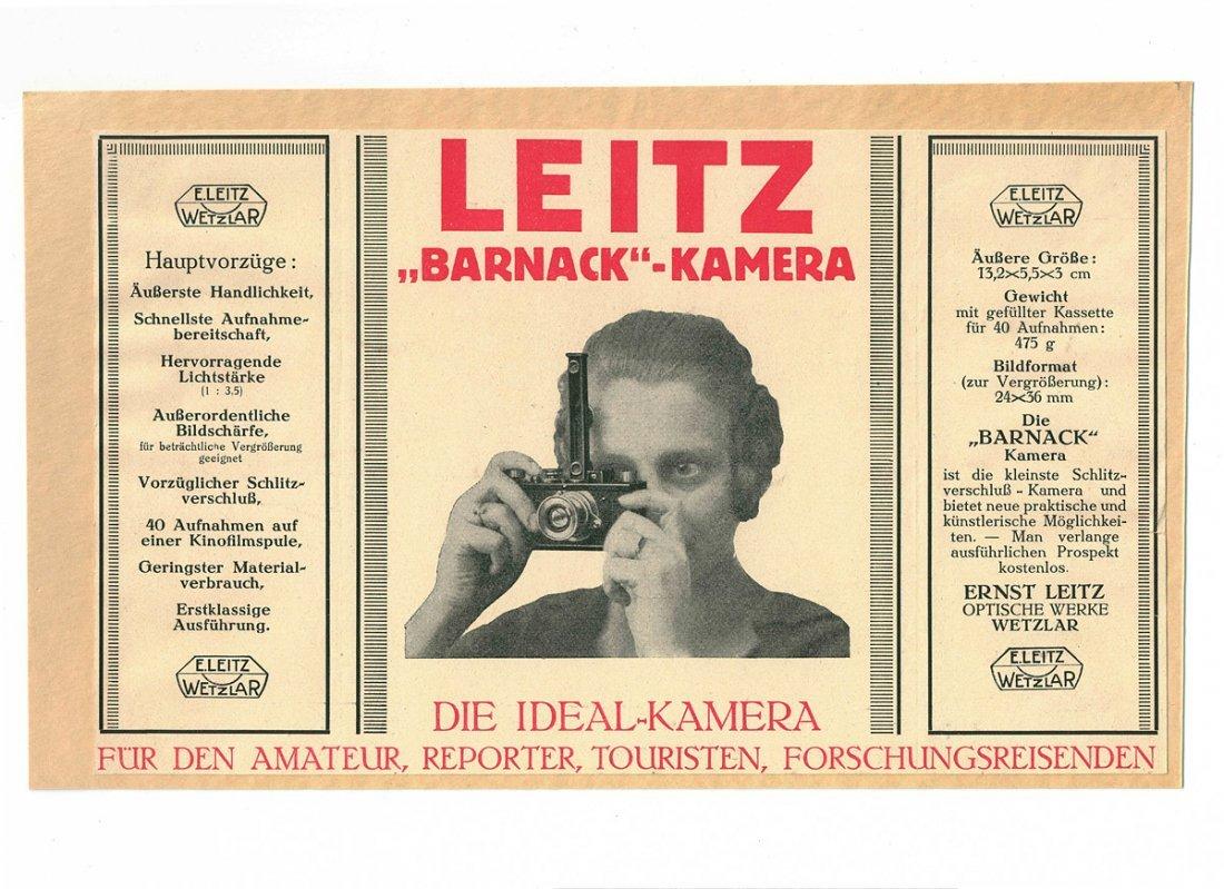 Broschure 'Barnack Kamera', 1924