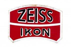 Zeiss Ikon Enamel Sign