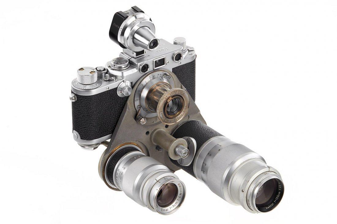 Leica IIIf + Haber & Fink Lens Turret *, c.1951, no.