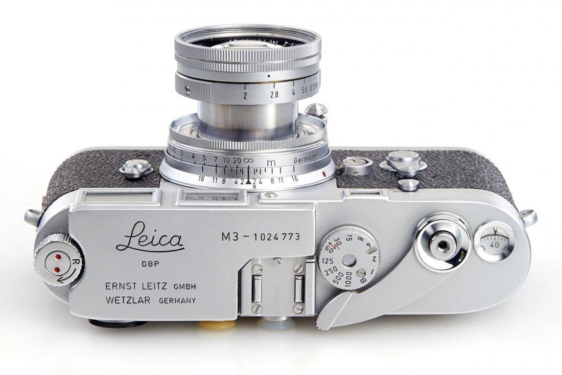 Leica M3 chrome *, 1961, no. 1024773 - 4