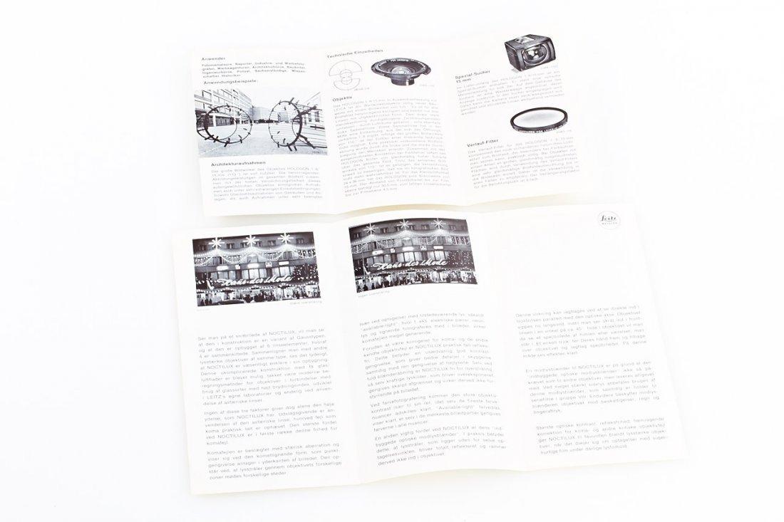Leica M Literature, 1956/74 - 3