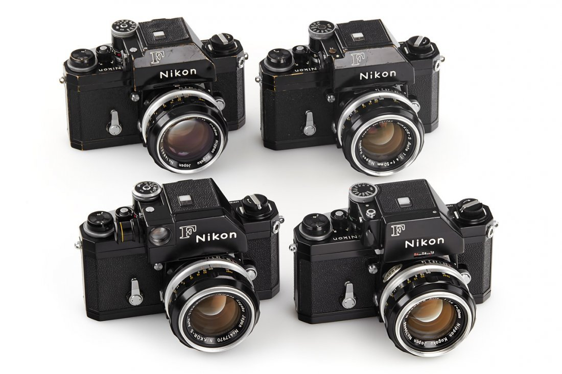 Nikon F black (various), 1965-70