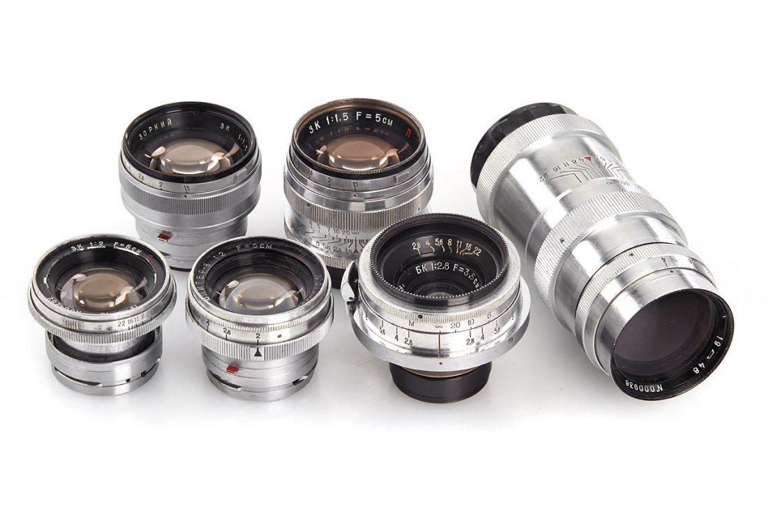 Russian Lenses (various), 1948/51