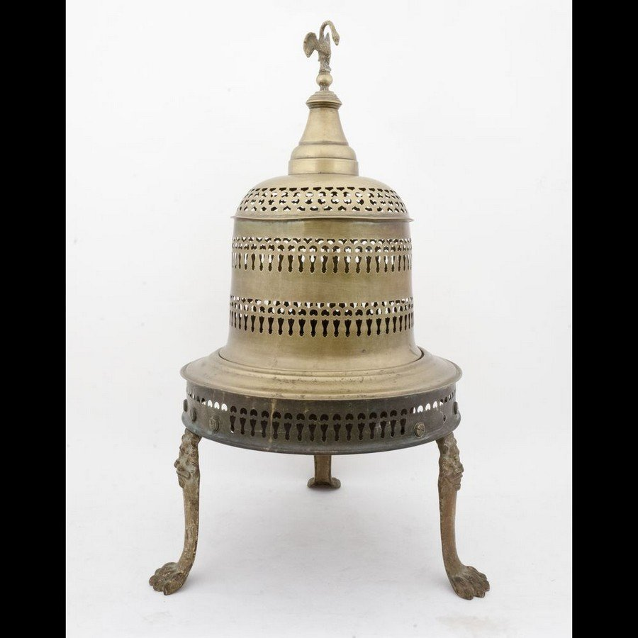 Italy, 20th century - Brazier in brass and steel