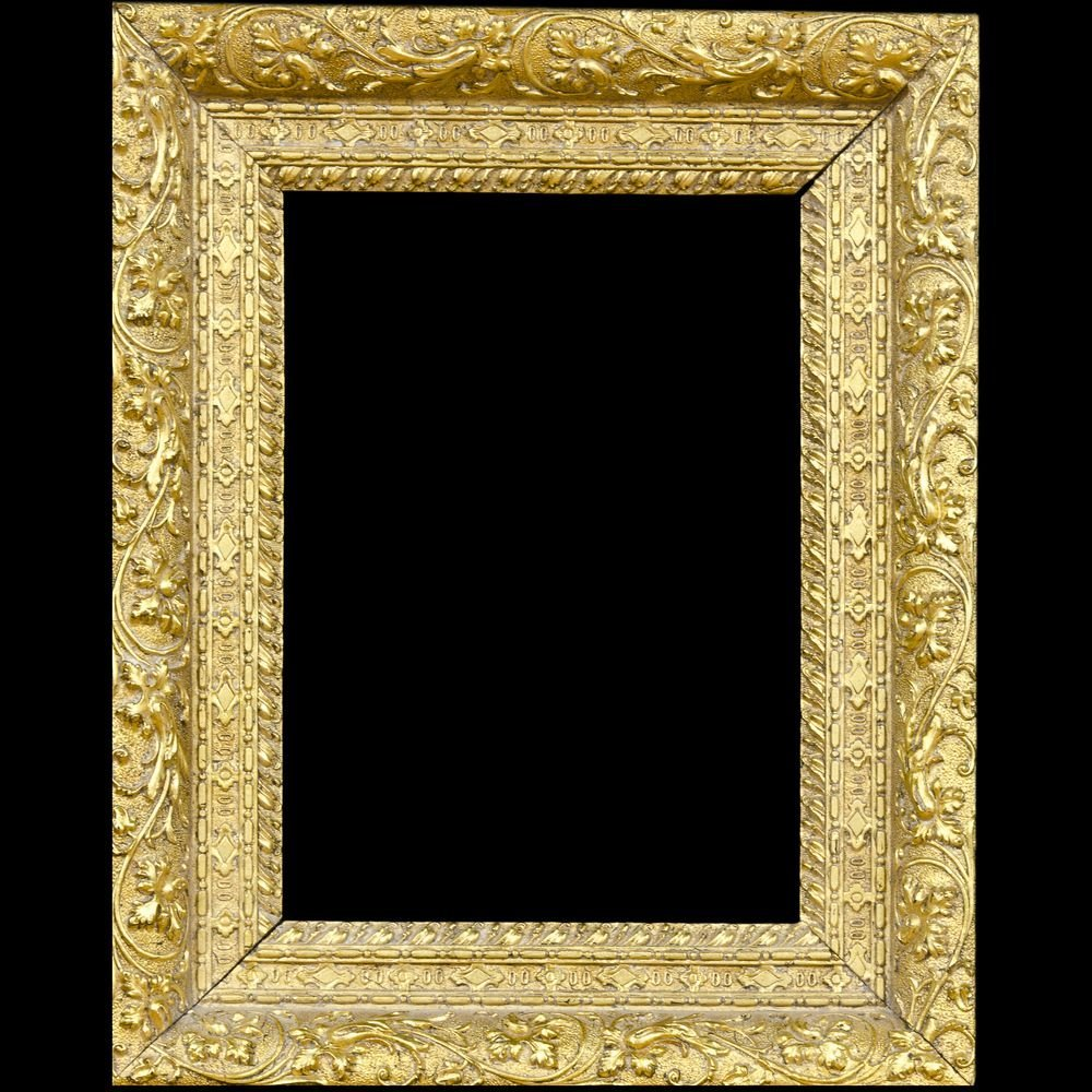 Wooden frame with gilded pastework