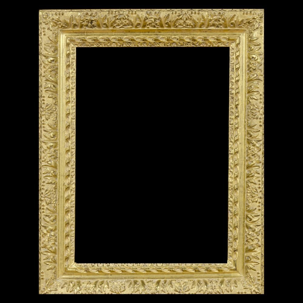 Italy XIXth Century Pair of carved gilded frames.