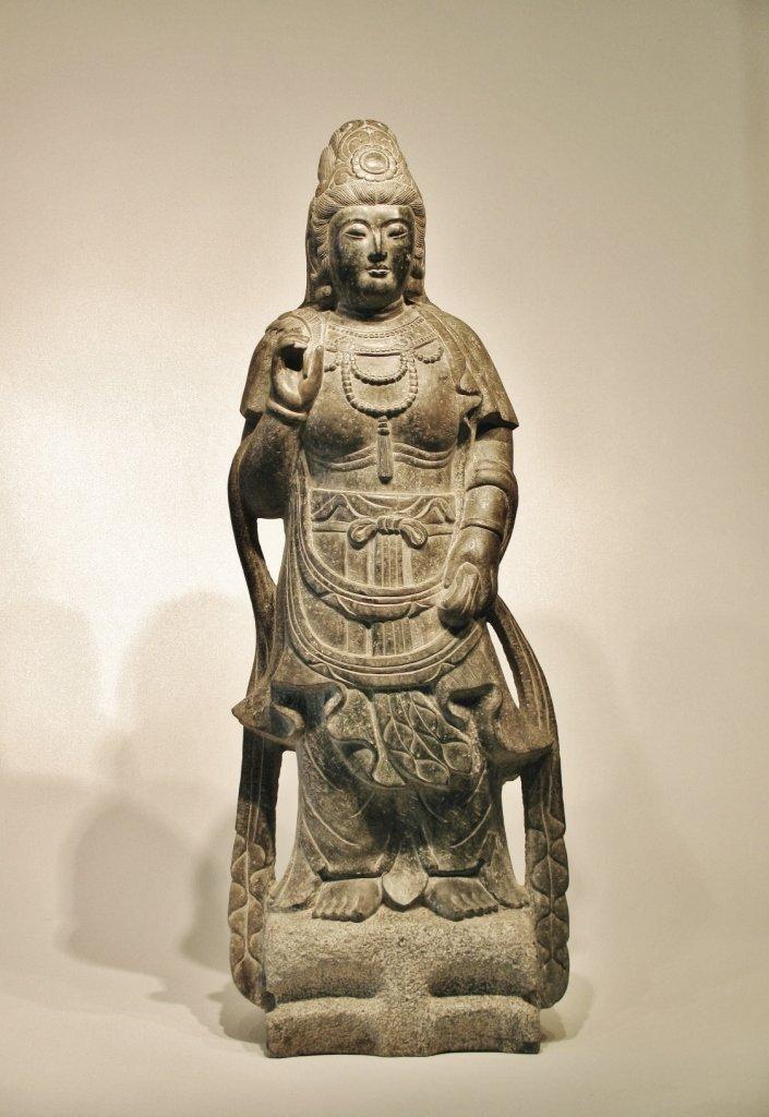 CHINA, circa 1800 - Kuan-Yin BODHISATTVA in diorite