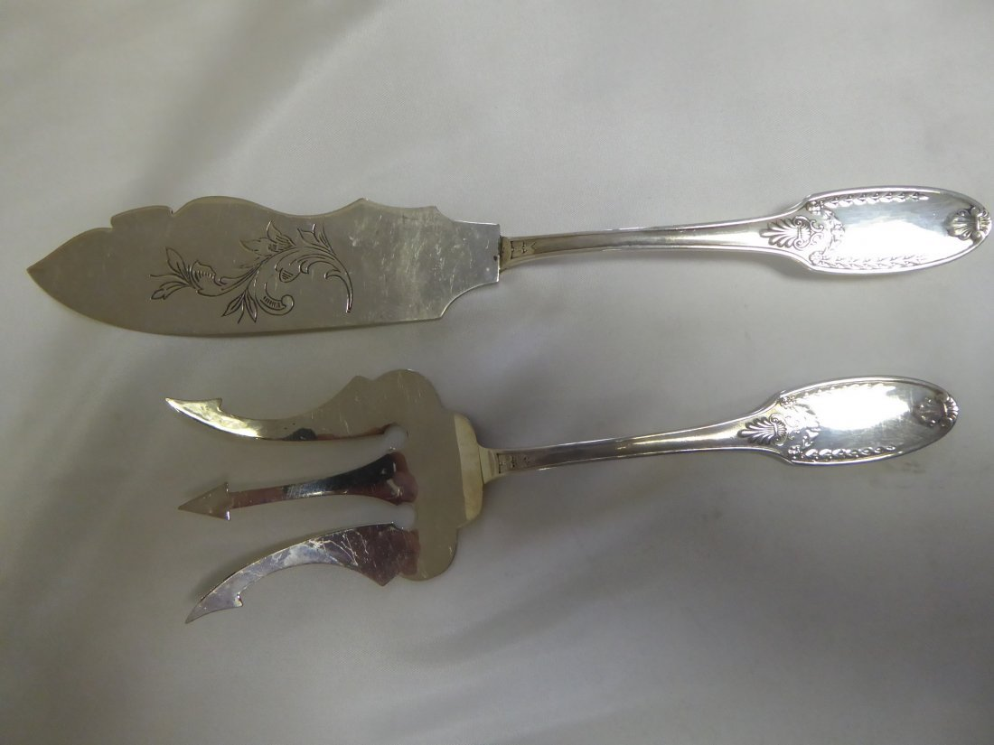 Solid Silver Fish cutlery set (2p)