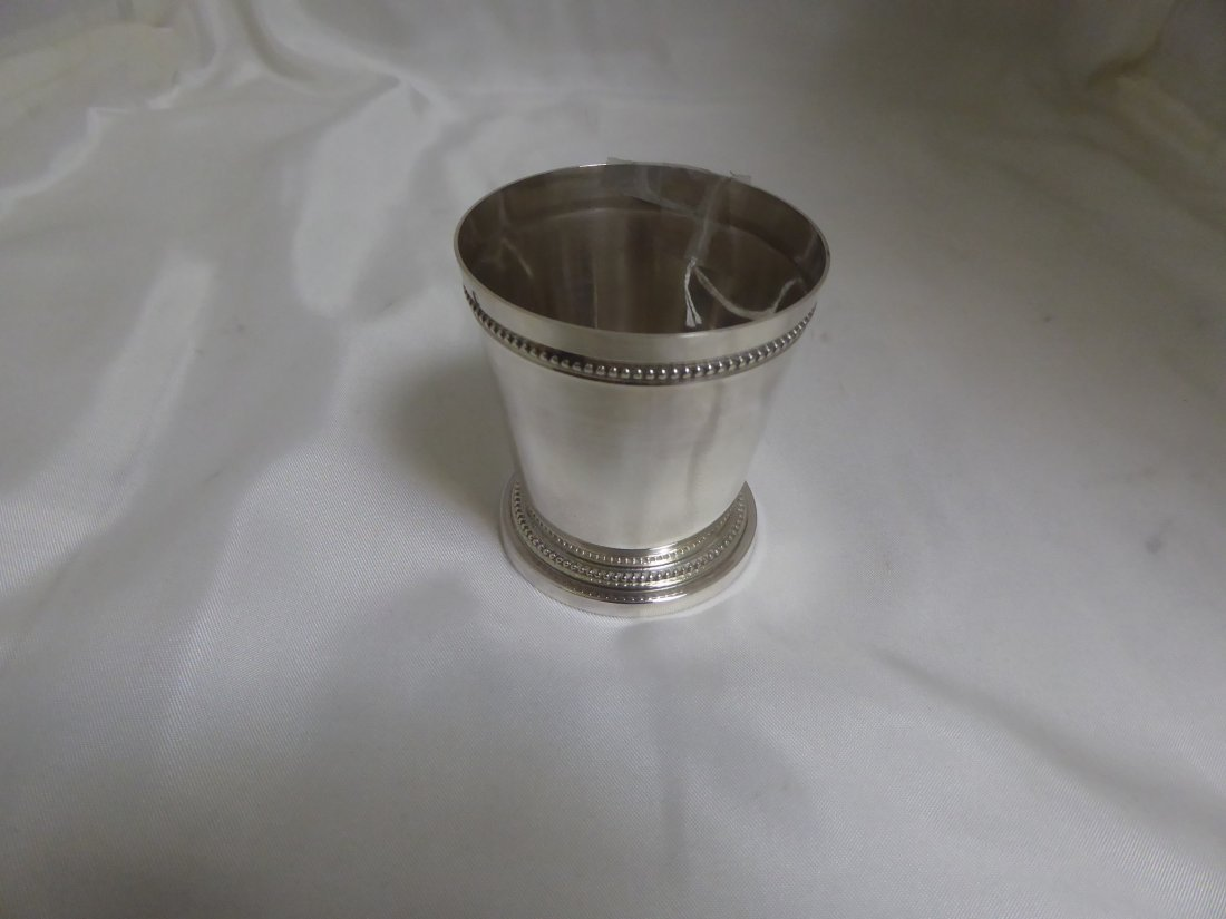 Footed solid silver tumbler