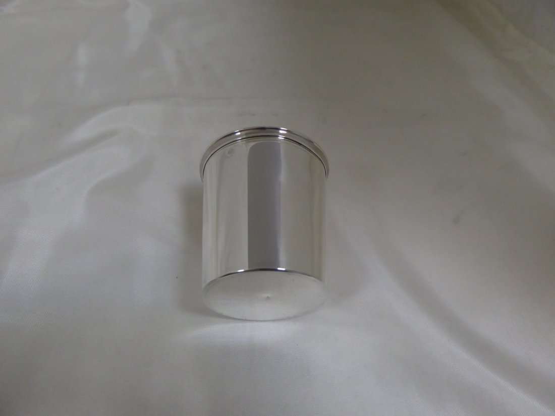 Big straight tumbler in solid silver