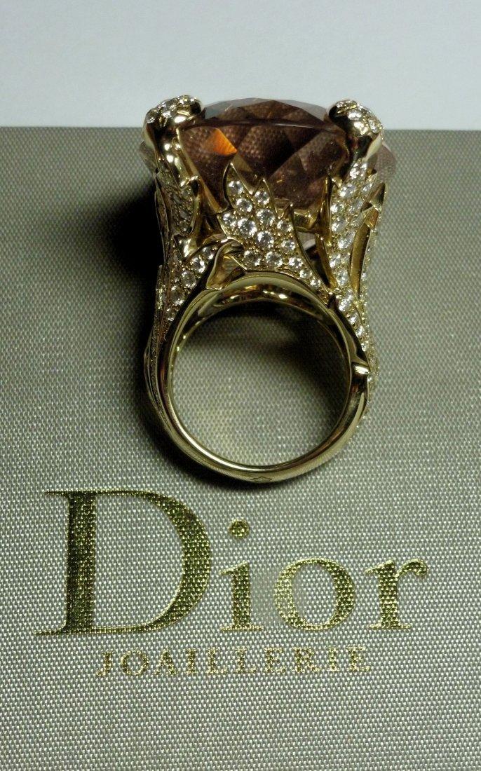 Important MISS DIOR  Morganite cocktail ring