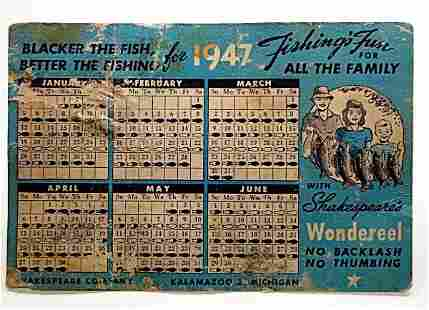 1947 Shakespeare Pocket Calendar