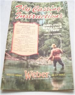Weber 1947 Fly Casting Booklet