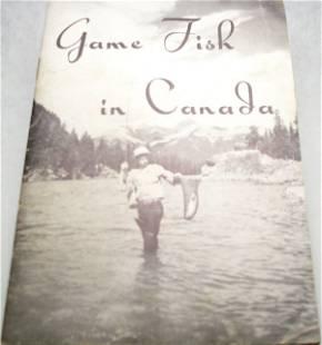 1955 Game Fish In Canada Manual
