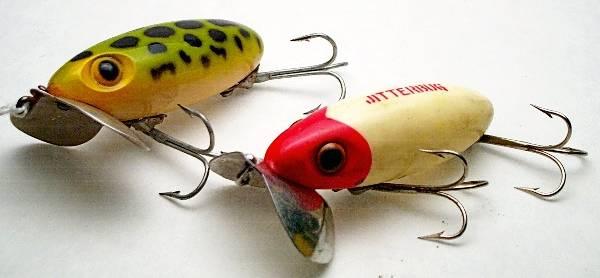 2- Arbogast Jitterbug Lures