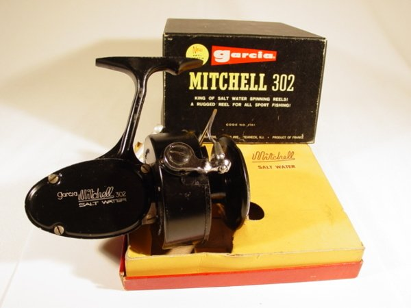 30: 1965 Mitchell 302 Salt Water Reel w/t Box