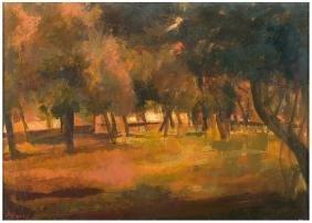 UGO ATTARDI Paesaggio 1972 Olio su tela cm 50 x 70
