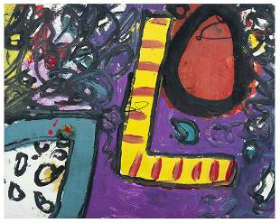ALAN DAVIE Ell's Image 1960 Olio su carta su tela cm